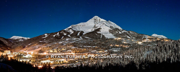 Lone Peak Under the Moonlight