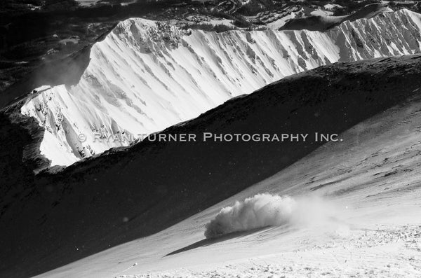 Ryan Turner Photography of skiing Lone Peak Mountain in Big Sky, Montana for purchase at www.ryanturnerphoto.com.