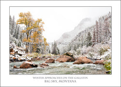 Winter Approaches on the Gallatin - Notecard