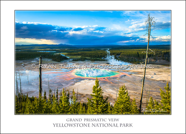 Grand Prismatic View - Notecard