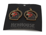 HenHouse Merchandise: Laser-Cut Wooden Earrings