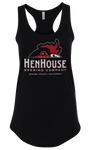 HenHouse Apparel: Women's Black Racerback Tank