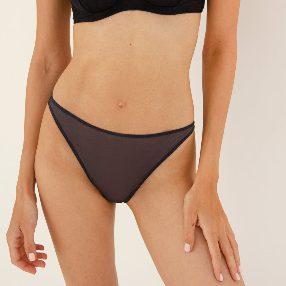 Constance Navy high-waisted panties