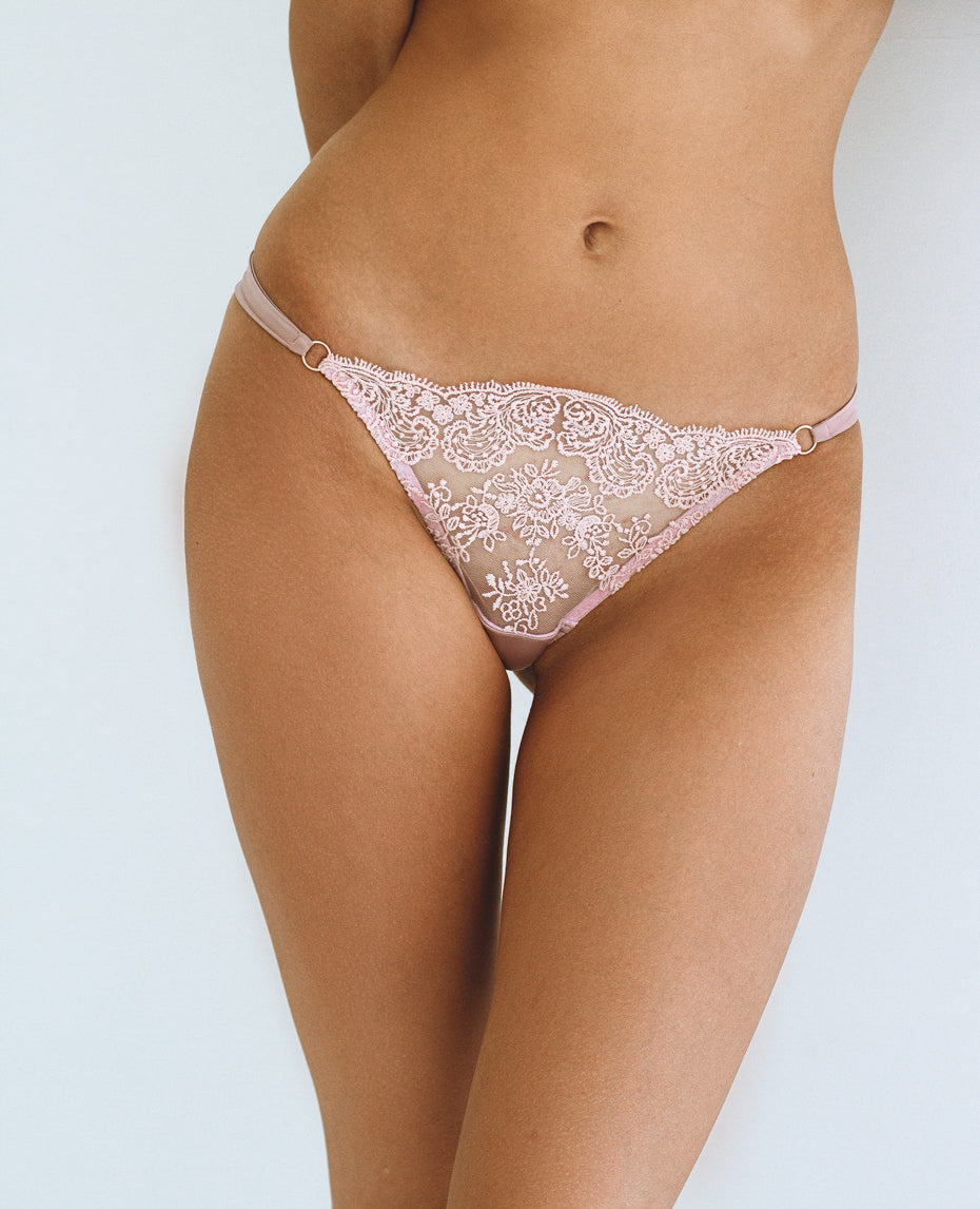 Flore Rose thongs