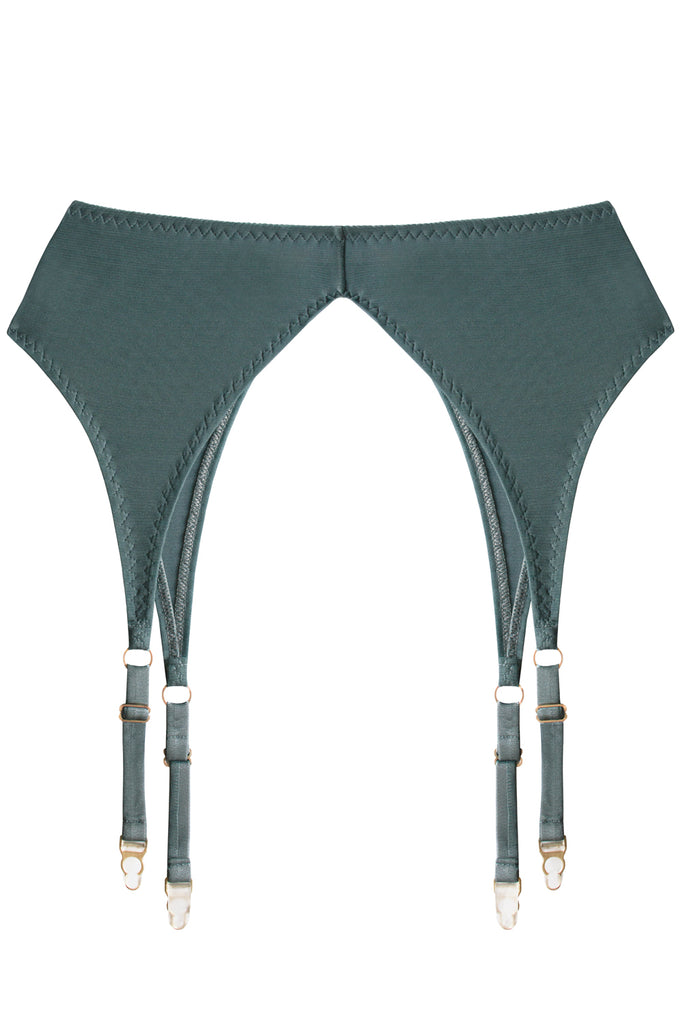 Diametra Bluestone garter belt