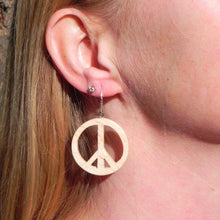 Load image into Gallery viewer, Peace Sign Earrings
