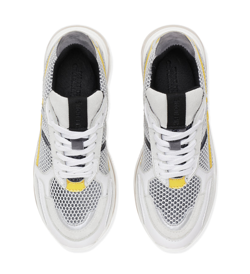 Shoe Biz Pass Sneaker Grey / Yellow / Black / White