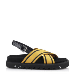 Shoe Biz Elas Elastic Sandal Yellow / Black