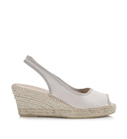 Shoe Biz Freya 5 Rows Canvas Espadrilla Sand