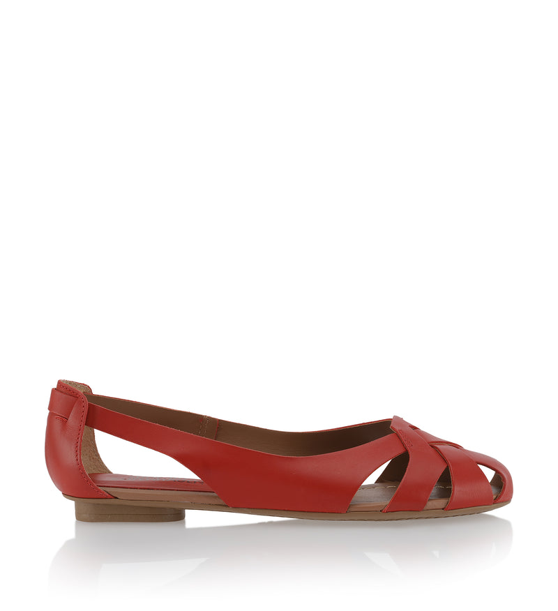 Shoe Biz Hanneine Atanado Ballerina Blood (Red)