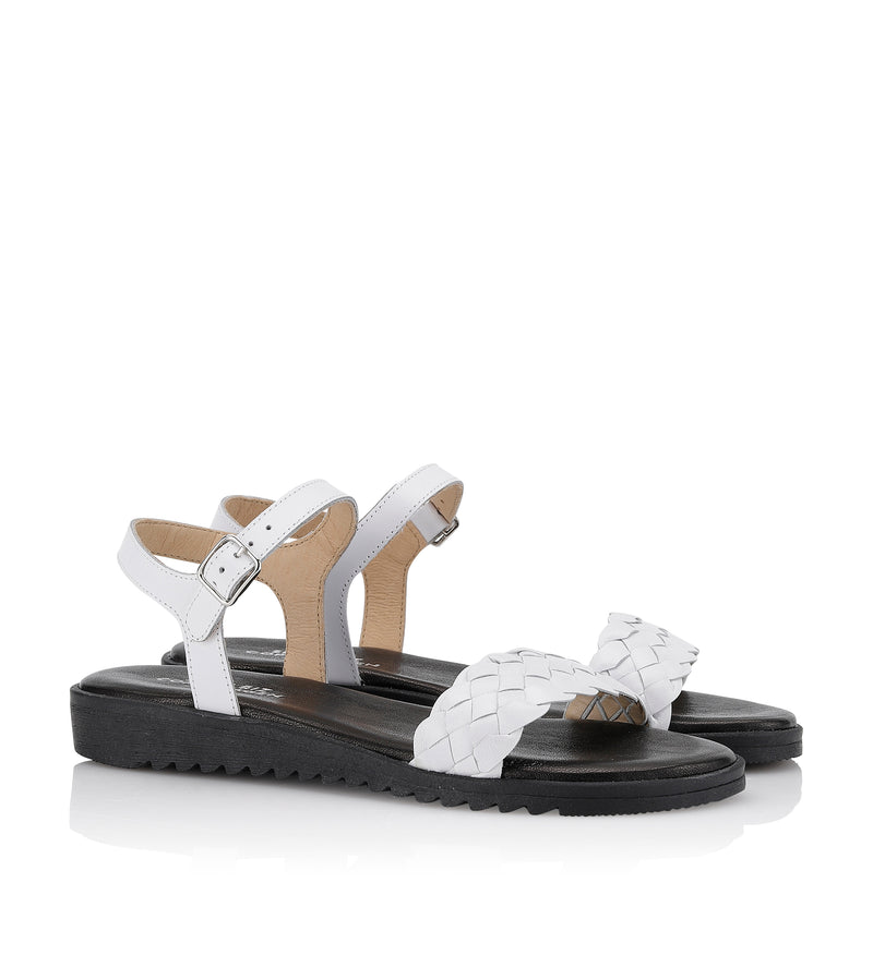 Shoe Biz Kant Sandal - Soft White