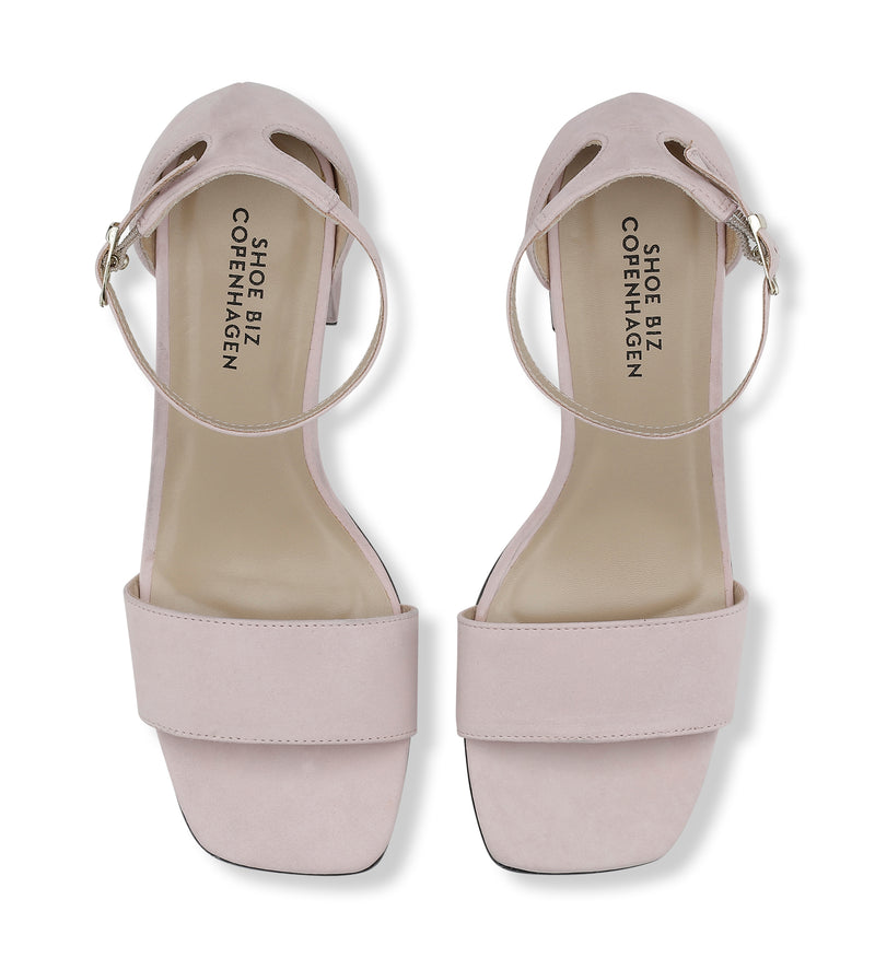 Shoe Biz Moon Nubuck Sandal Light Pink