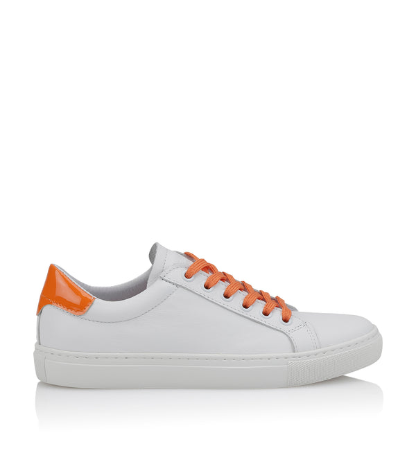 Shoe Biz Nicole Sneaker White / Orange