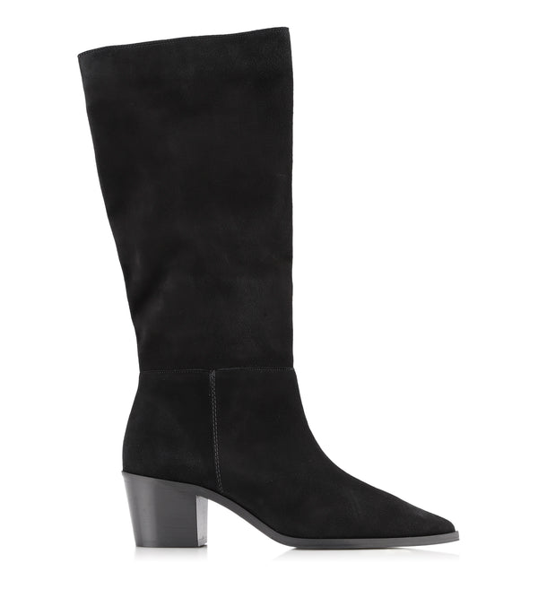 Gardenia Copenhagen Paris Goat Suede Long Boot Black