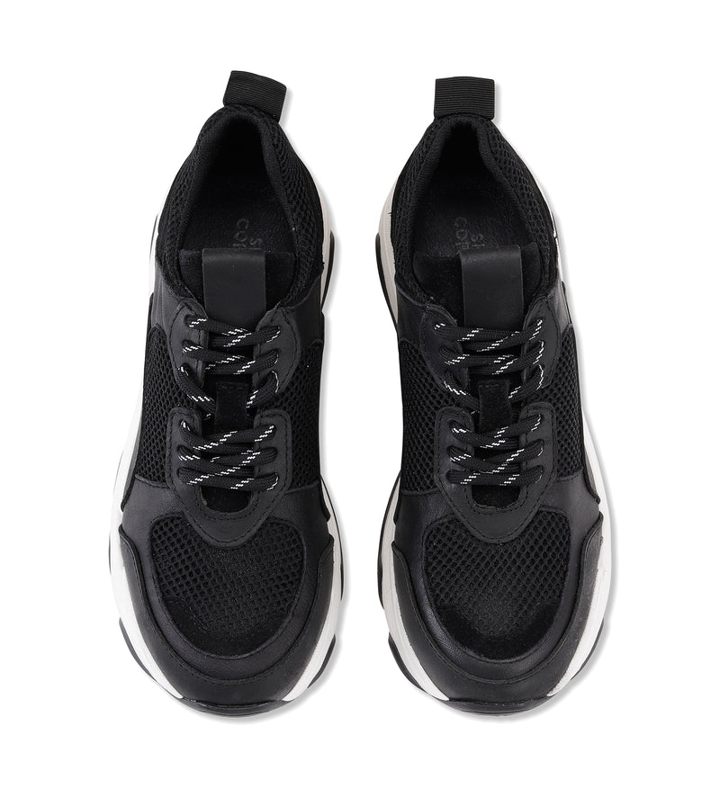 Shoe Biz Rad Black Mix Sneaker Black