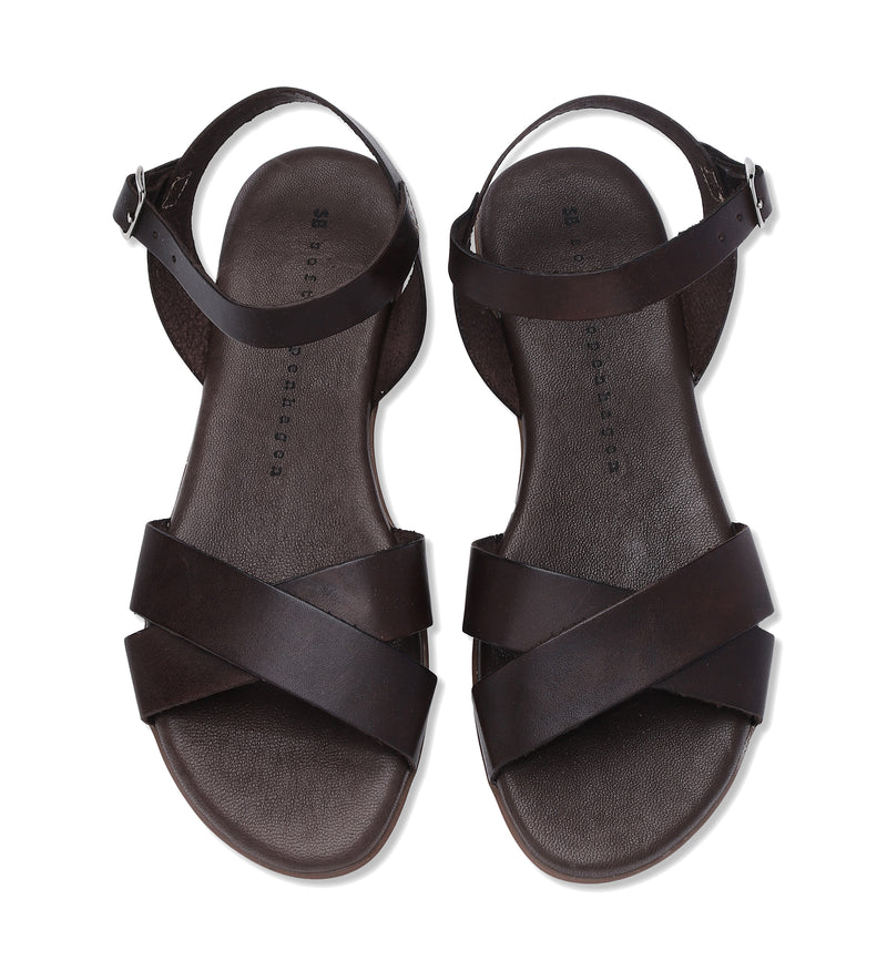 Shoe Biz Siva Vaqueta Sandal - Soft Dark Brown