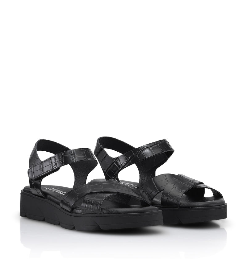 Shoe Biz Tatu Sandal - Soft Black