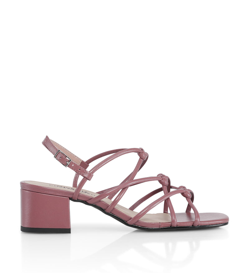 Shoe Biz Tia Low Napa Sandal Old Rose