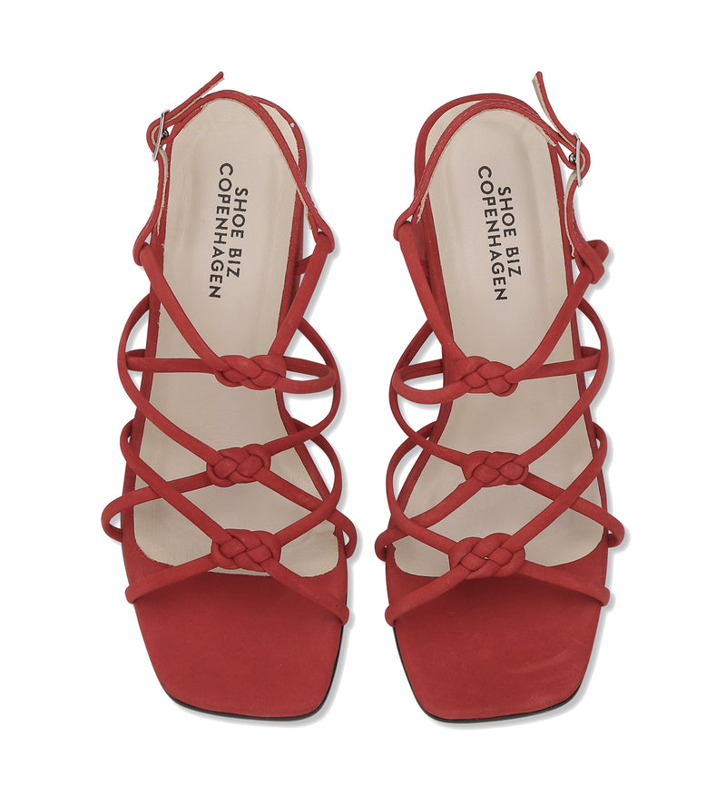 Shoe Biz Tia Nubuck Sandal Red