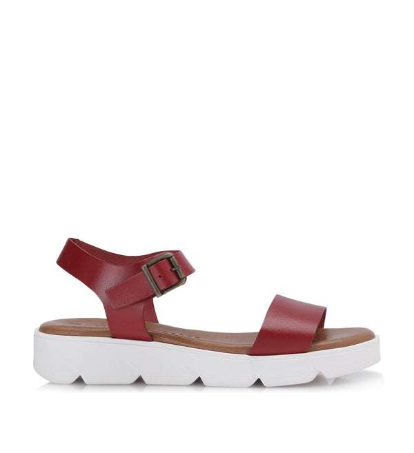 Shoe Biz Tito Vaqueta Sandal - Soft Red