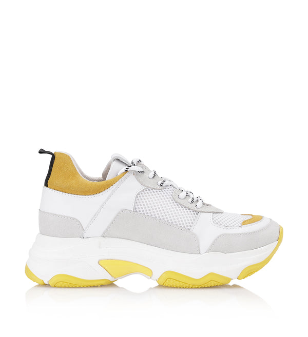 Shoe Biz Rad Yellow Mix Sneaker White / Yellow