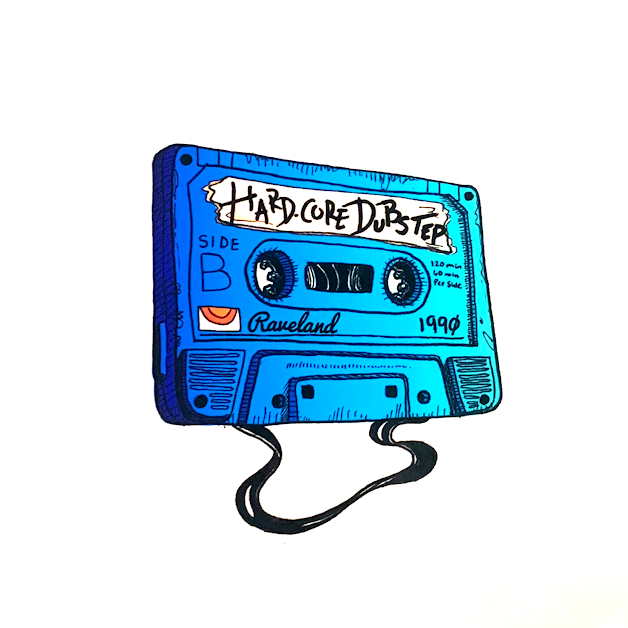 DUBSTEP TAPE STICKER