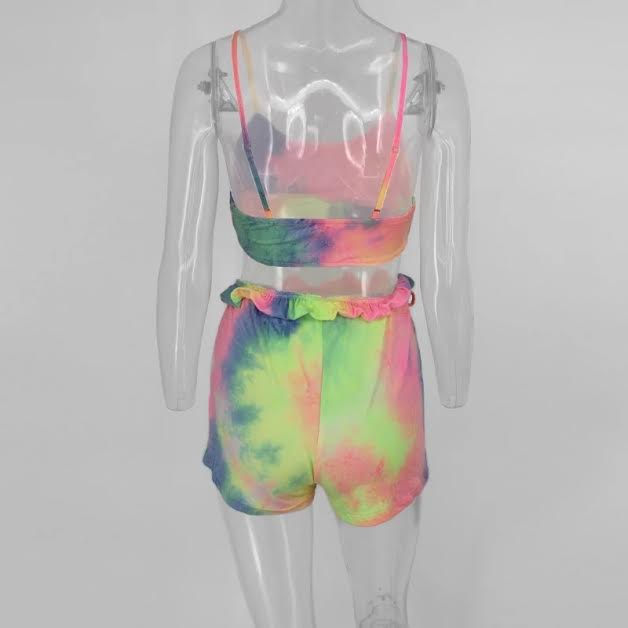 COLOR SPLAT TIE DYE 2PC SET