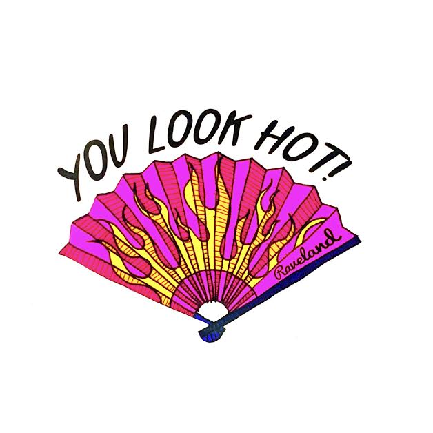 LOOK HOT FAN STICKER