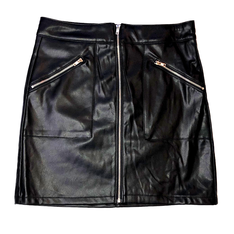 ENOUGH SAID MATT BLACK SKIRT