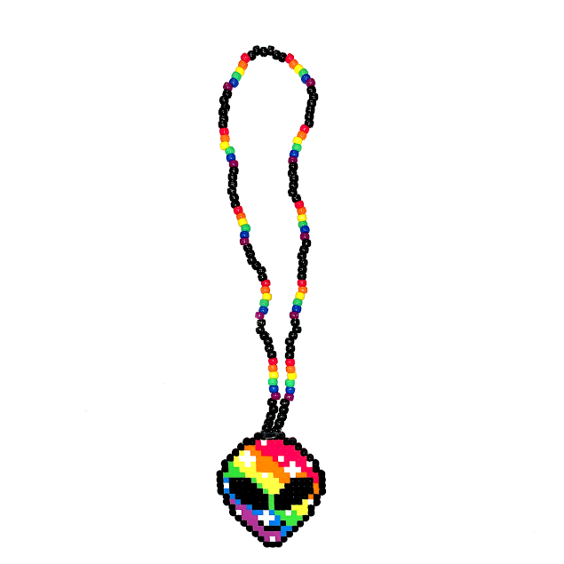 RAINBOW ALIEN NECKLACE