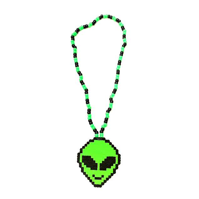 LIME ALIEN NECKLACE
