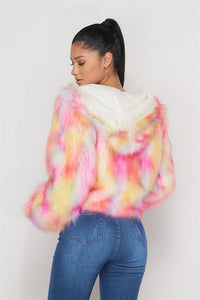 IN FOR GOOD FAUX FUR JACKET