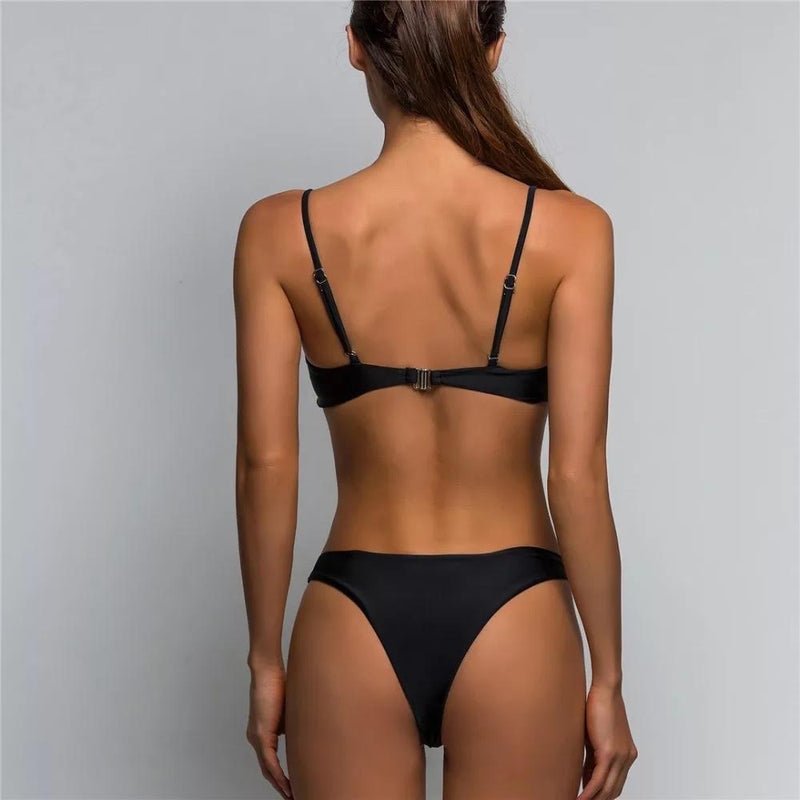 BLACKED OUT SWIMSUITS 2PC SET