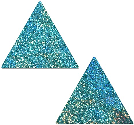 GLITTER TRIANGLE PASTIE GREEN