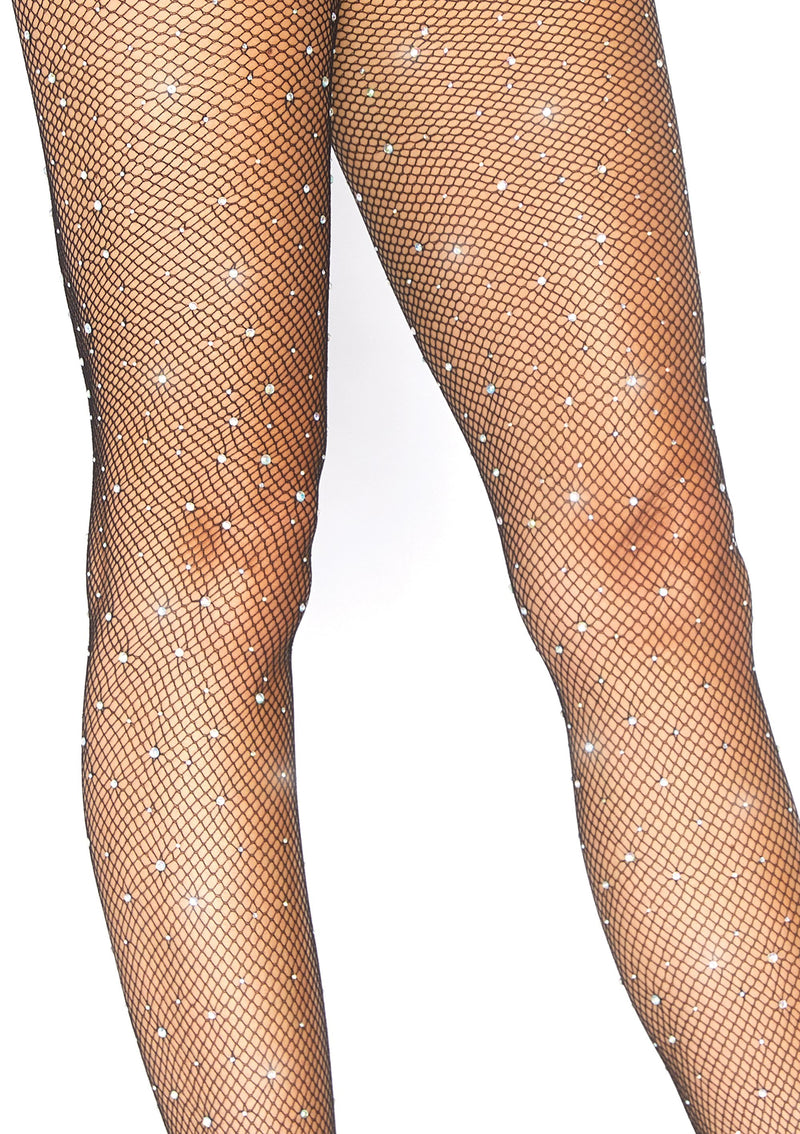 Crystalized Fishnet Tights