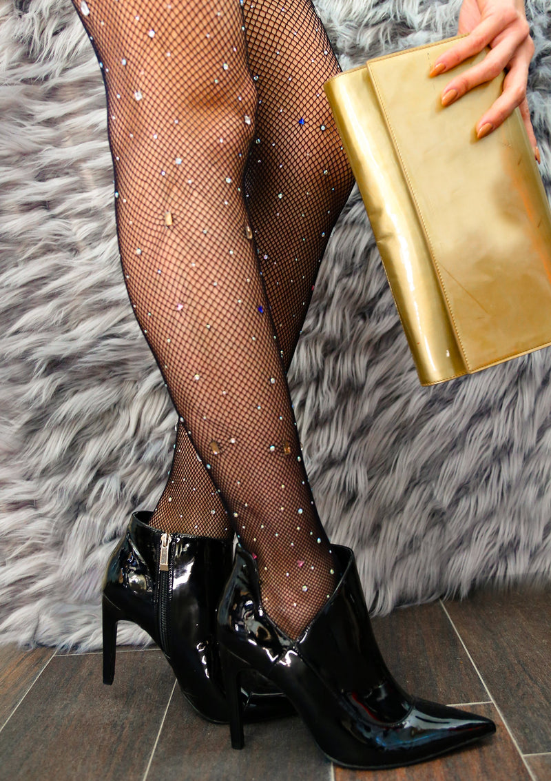 Rainbow Crystal Fishnet Tights