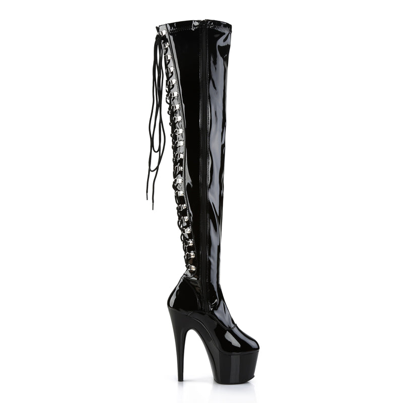 I ADORE YOU/ BLACK KNEE HIGH HEELS