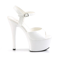 ASPIRED STRAPPED HEELS/ WHITE
