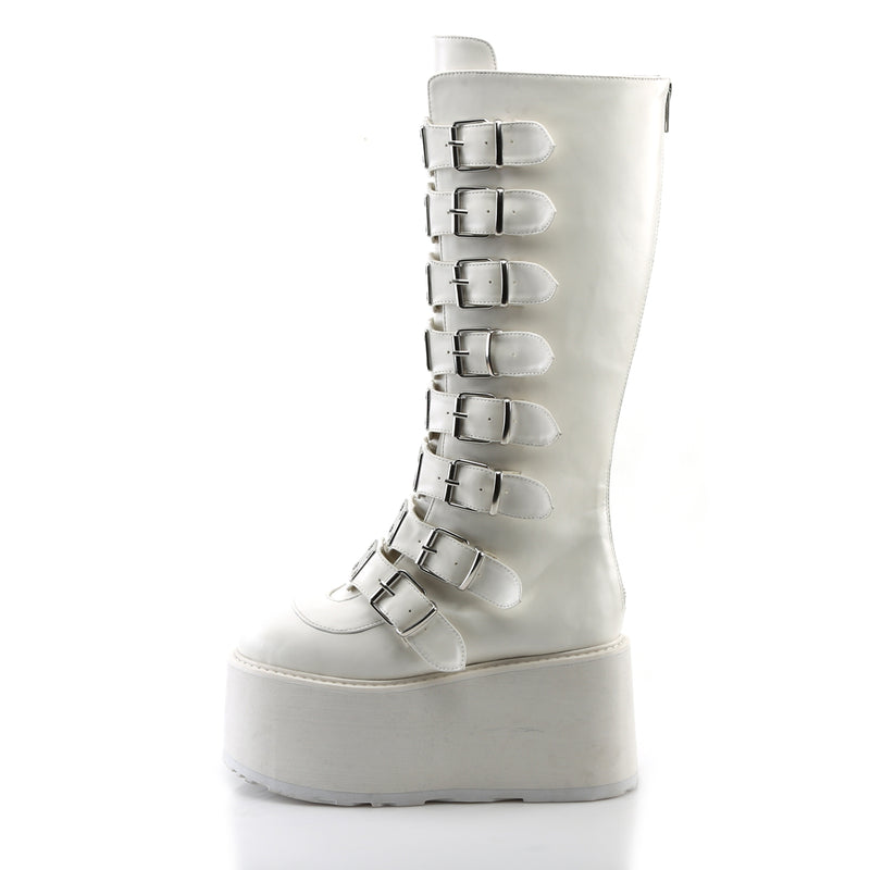 WHITE SKULL CRUSHER BOOTS