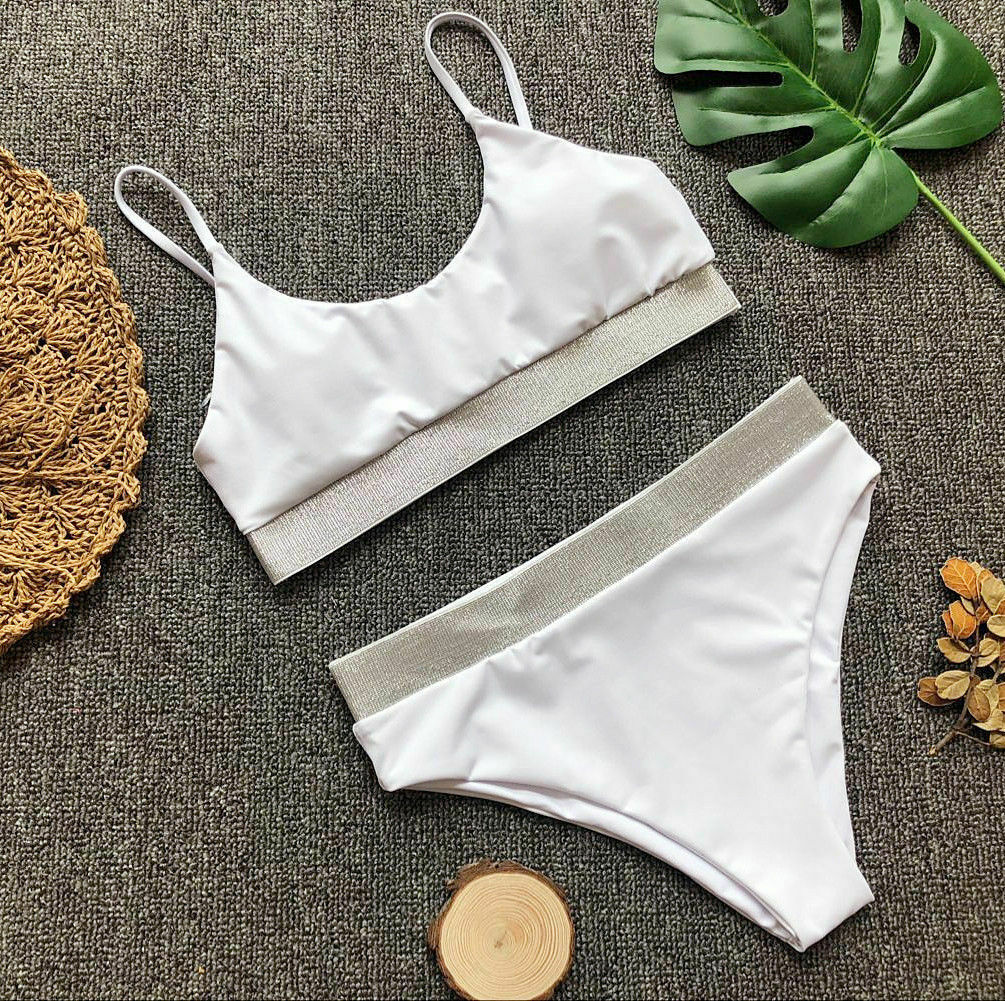 EYES ON ME/ WHITE SWIMSUIT SET