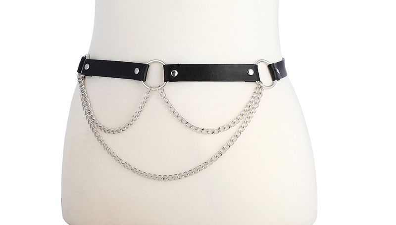 O RING CHAINED WAIST HARNESS