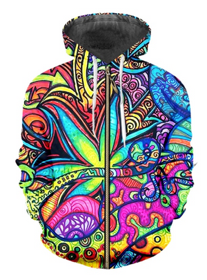 MAGIC LEAF ZIPPER HOODIE