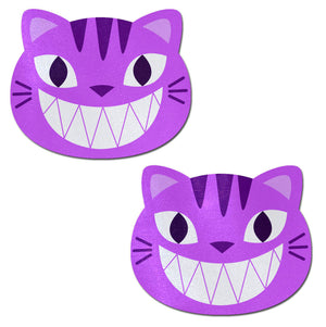 Kitty Cat: Purple Chesire Kitty Cat Nipple Pasties