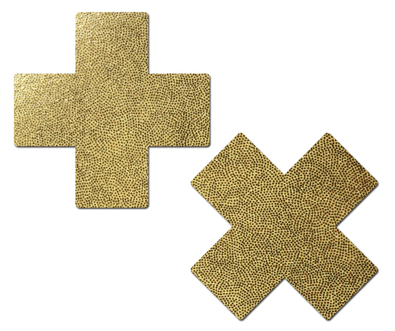 Everyday Reusable: Liquid Gold Cross Reusable Nipple Pasties