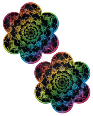 Daisy: Rainbow Mandala Flower Nipple Pasties