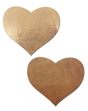 Love: Liquid Rose Gold Heart Nipple Pasties