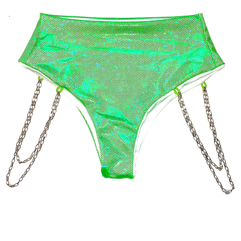 KYLIE GREEN HIGH WAISTED BOTTOMS