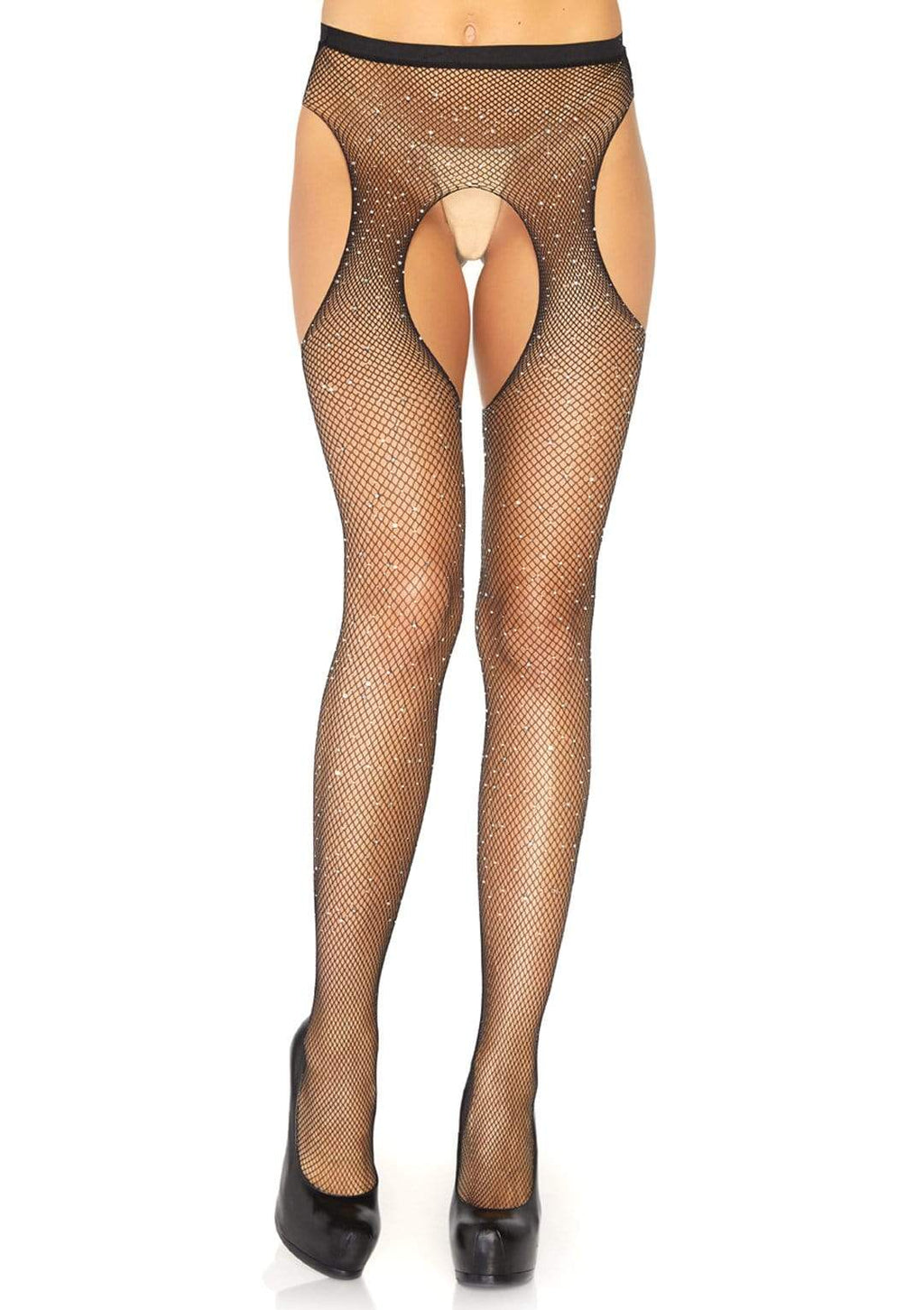 Plus Size Crystal Fishnet Pantyhose
