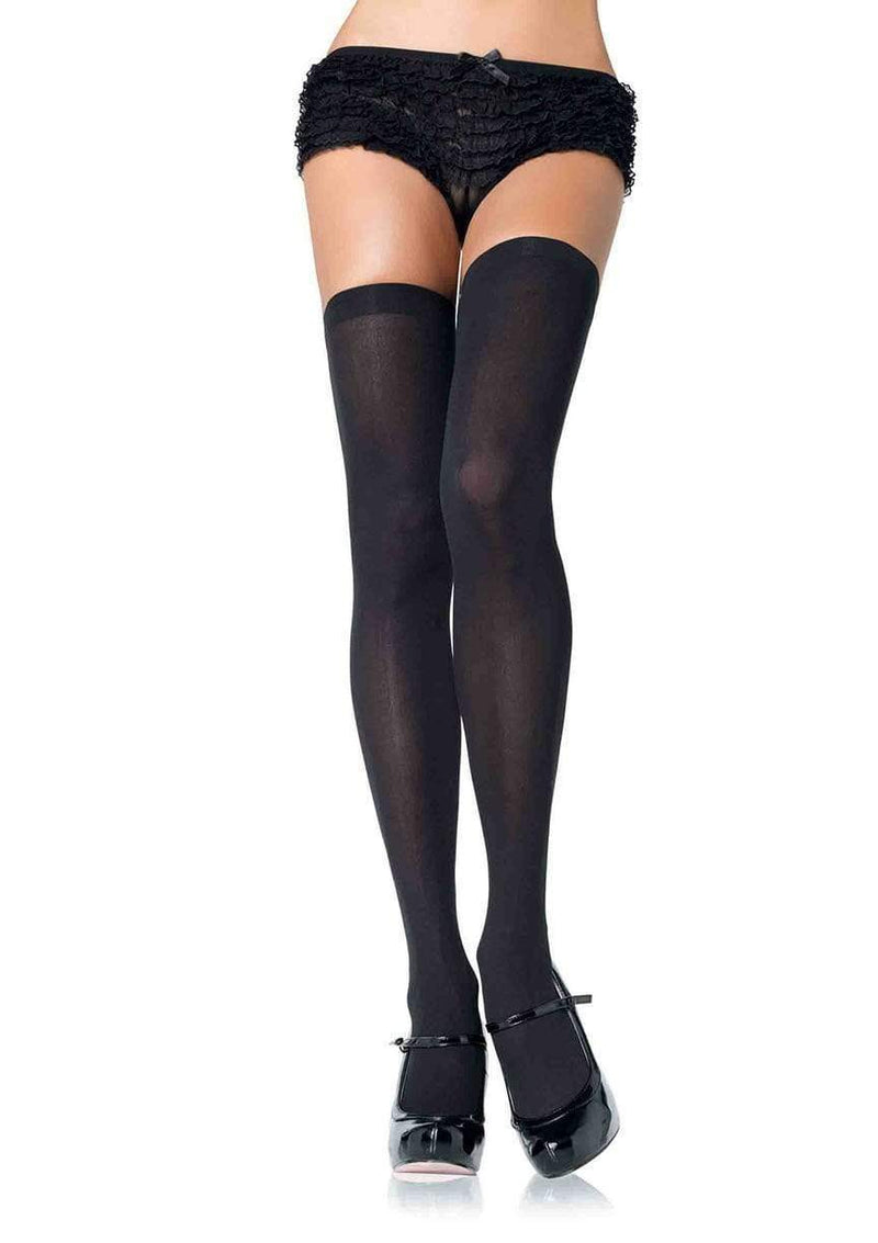 Plus Size Nylon Thigh Highs