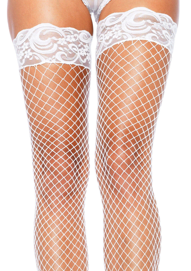 Stay Up Fishnet Thigh Highs